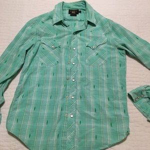 Double RL button up shirt